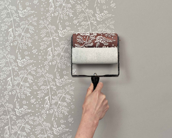 Easily Recreating The Look of a Classic Wallpaper: Patterned Paint Rollers
