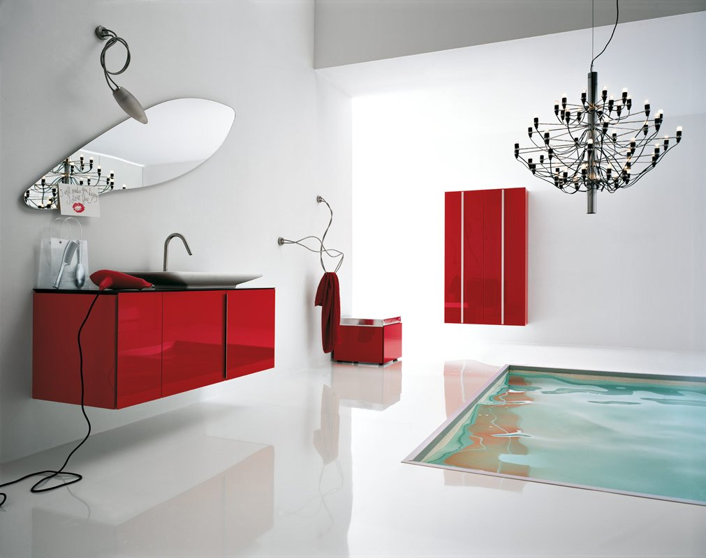 white-red-bathroom-floor-tub