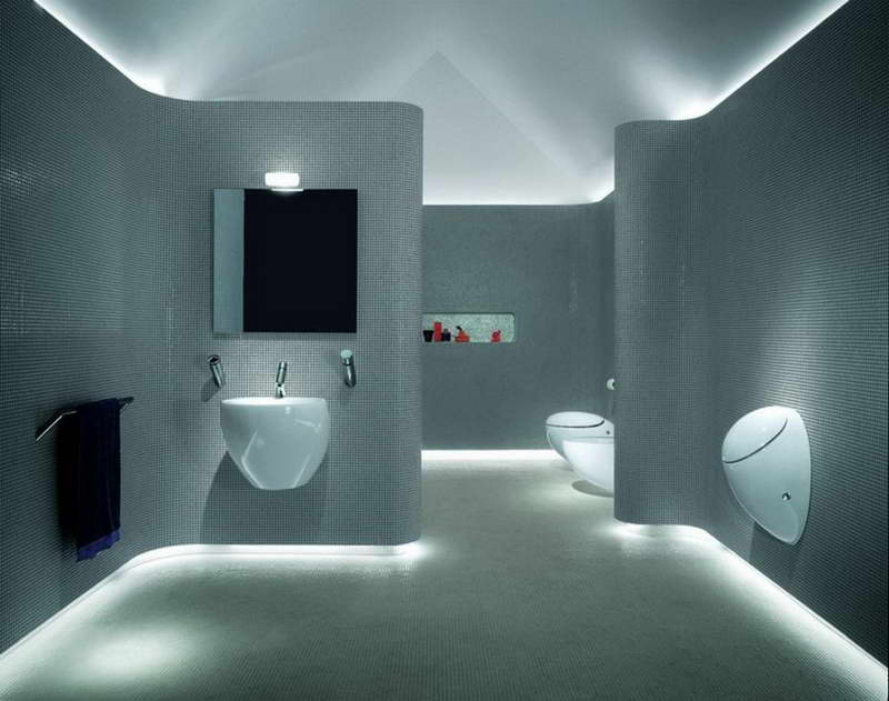 Unusual Bathrooms With Style Lights