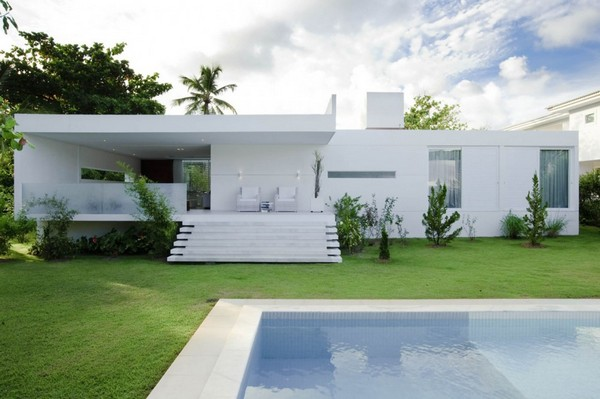 ... Sunset Plaza Beautiful Home Design White Color ...
