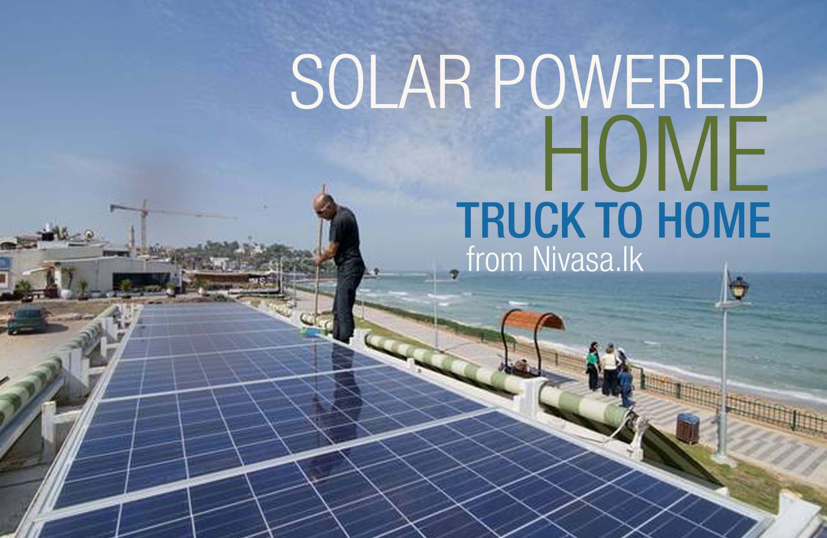 Man converts truck into solar-powered home