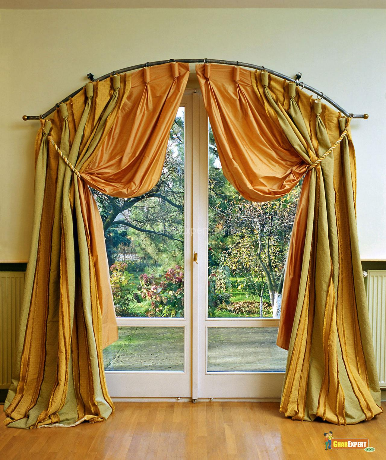 68-Beautiful-And-Elegant-Drapes-For-Sliding-Glass-Doors-Desig-Ideas-Door-Glass-Doors-Design-Ideas-Ideas-Charming-Orange-Green-Drapes-For-White-Sliding-Glass-Doors-With-Oval-Shaped-Curtain-Rod-