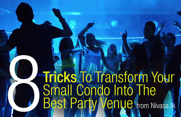 8 ways to transform Your Small space Into a Party Venue