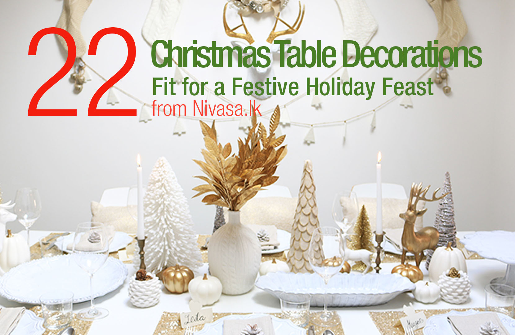 22 Christmas Table Decorations ideas for your home