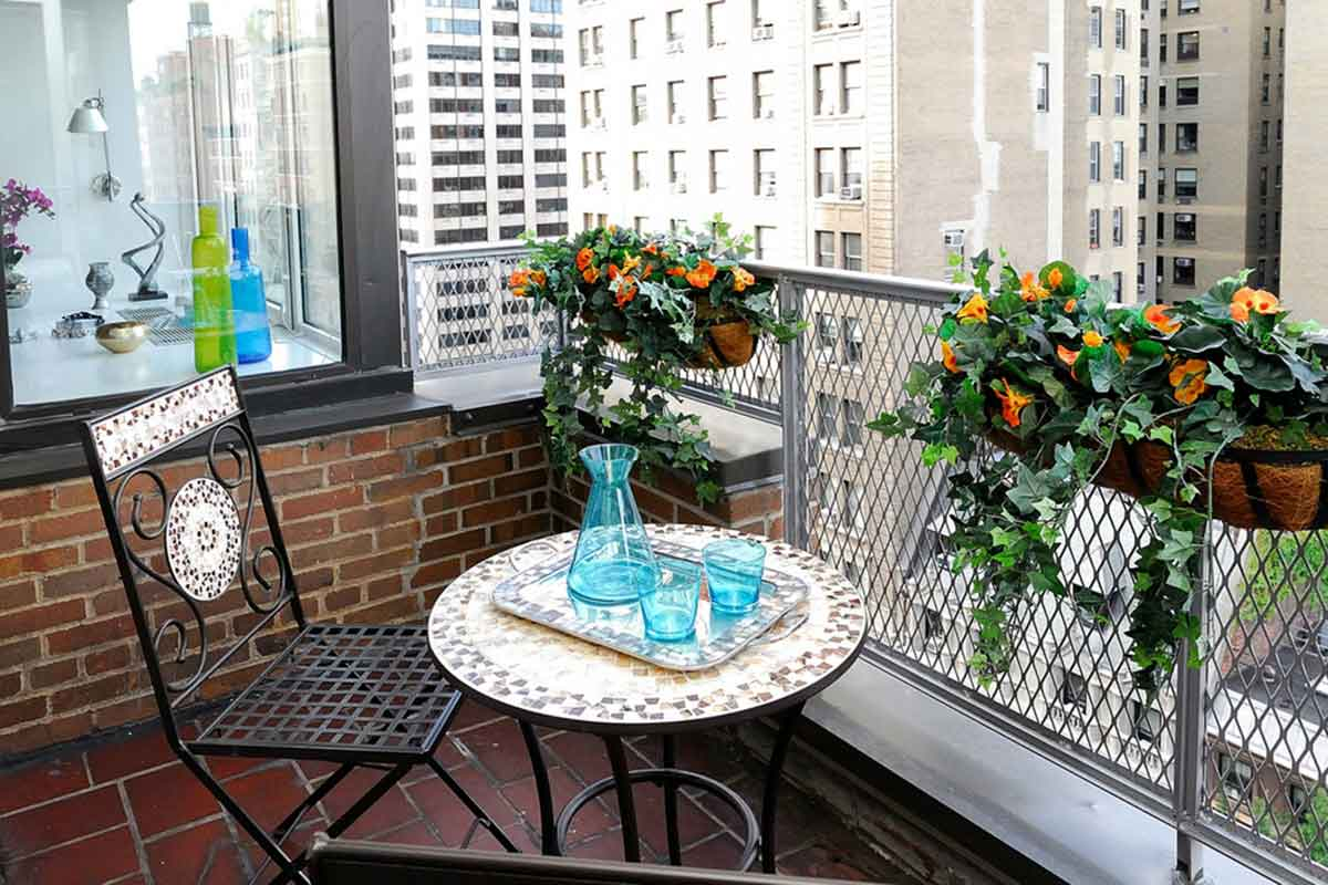 Cozy and small space balcony ideas for your home